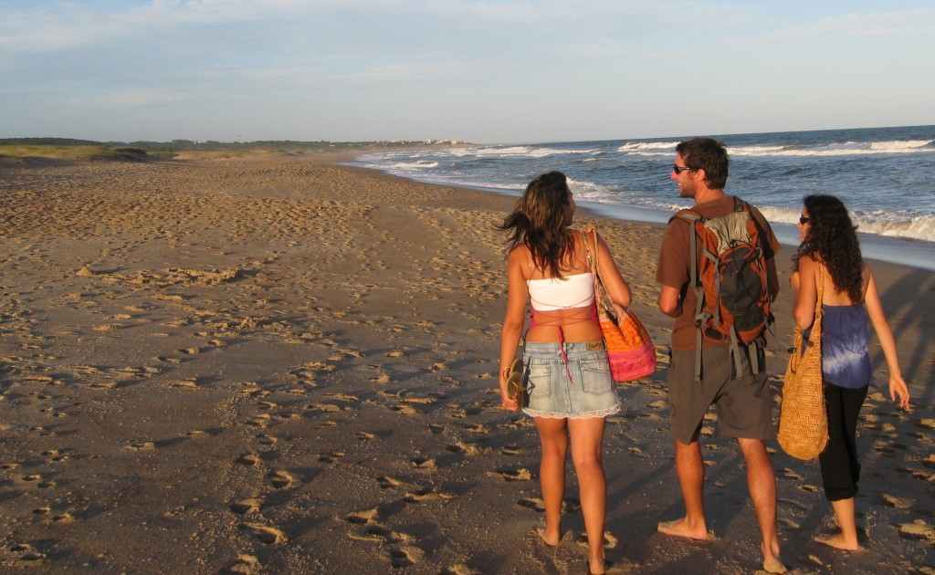 Walking the Atlantic coast from La Paloma ,Uruguay to Cabo Palonia