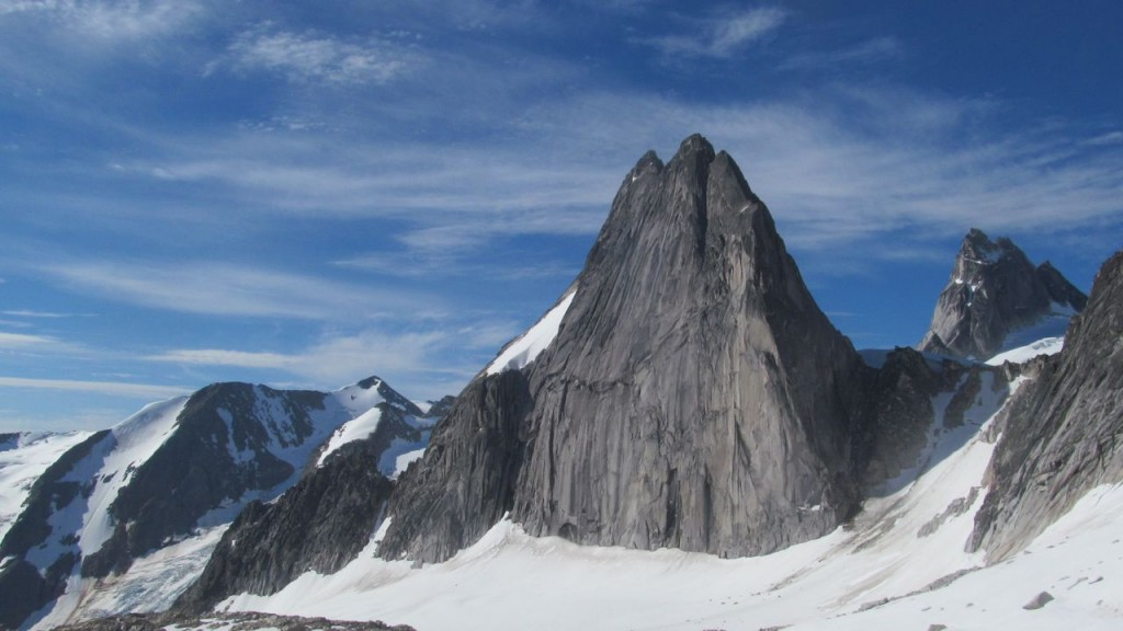 Snowpatch Spire and Pigeon Spire.  That is the Pigeon-Snowpatch Col on the right side, below Pigeon.