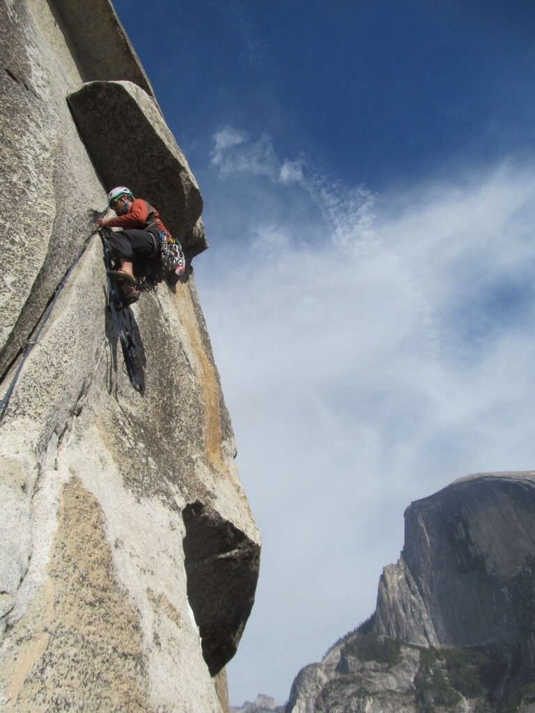 Matt Hartman on the South  Face of Washington Column