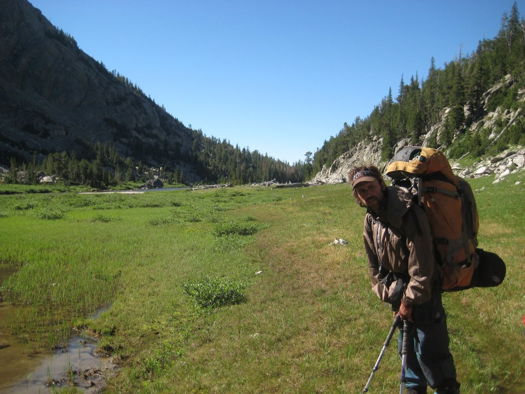 Schlepping Shaniqua up the Little Sandy Valley.  Photo: Daniel Curran