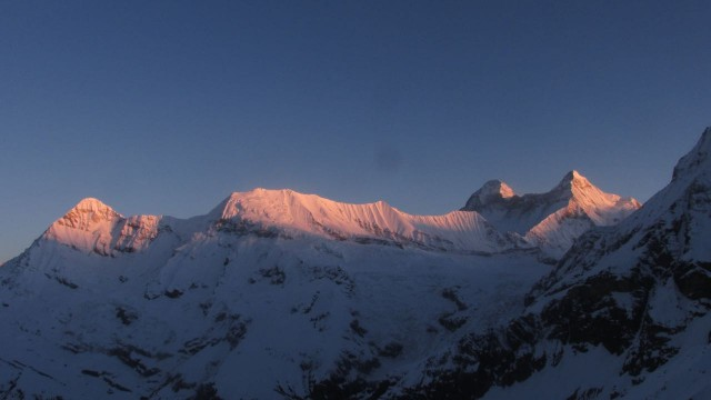 Sunrise on Nanda Devi, India's second highest peak.