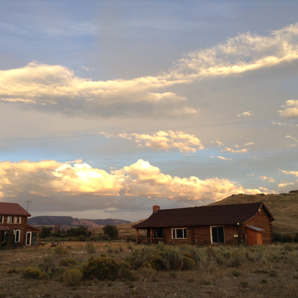 Sunset at the Three Peaks Ranch in Boulder, WY